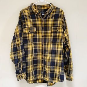 Faded Glory Men's flannel Mustard and navy XXL